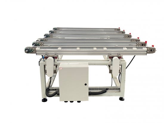 Glass transfer table