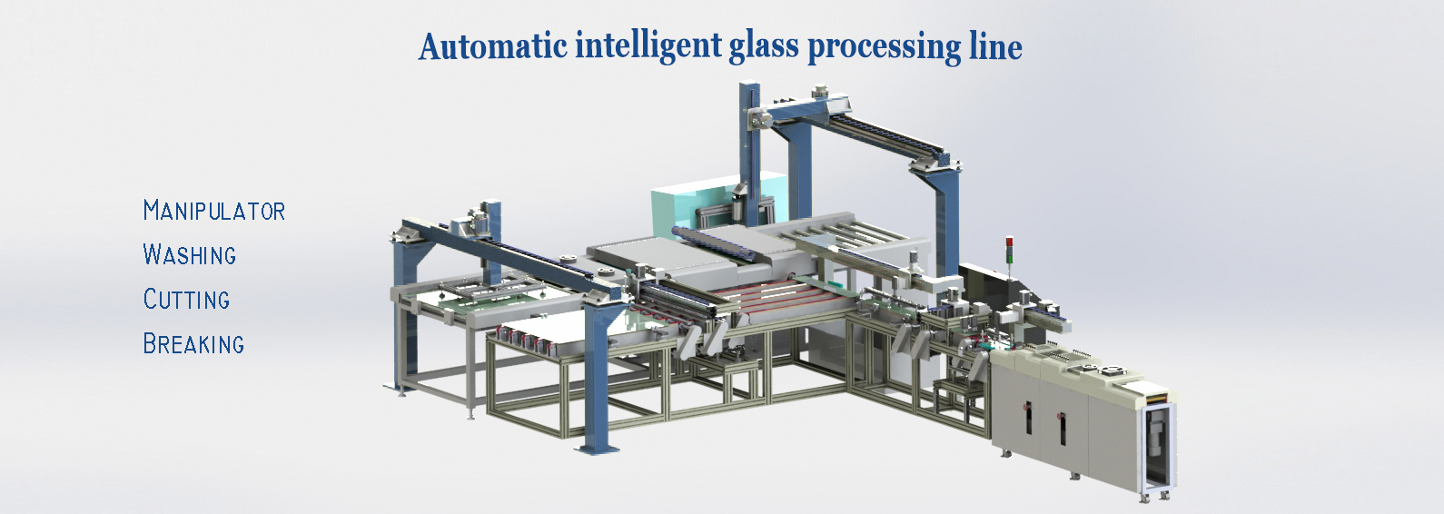 High intelligent glass processing line